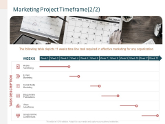 Advertising Proposal Marketing Project Timeframe Video Ppt Styles Slides PDF