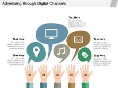 Advertising Through Digital Channels Ppt Powerpoint Presentation Slides Download