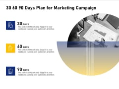 Advocacy And Marketing Campaign Request 30 60 90 Days Plan For Marketing Campaign Ideas PDF