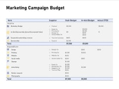 Advocacy And Marketing Campaign Request Marketing Campaign Budget Inspiration PDF