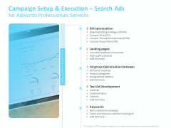 Adwords PPC Campaign Setup And Execution Search Ads For Adwords Professionals Services Diagrams PDF