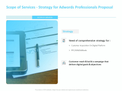Adwords PPC Scope Of Services Strategy For Adwords Professionals Proposal Professional PDF