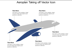 Aeroplan Taking Off Vector Icon Ppt PowerPoint Presentation File Gridlines PDF