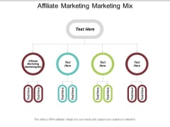 Affiliate Marketing Marketing Mix Ppt PowerPoint Presentation Show Design Ideas Cpb