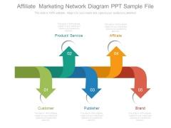 Affiliate Marketing Network Diagram Ppt Sample File