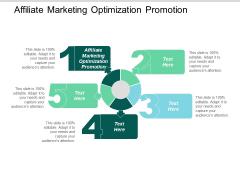 Affiliate Marketing Optimization Promotion Ppt PowerPoint Presentation Show Portrait Cpb