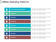 Affiliate Marketing Platforms Ppt PowerPoint Presentation Summary Background Cpb
