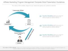 Affiliate Marketing Program Management Template Slide Presentation Guidelines