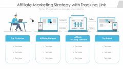 Affiliate Marketing Strategy With Tracking Link Ppt Icon Design Inspiration PDF