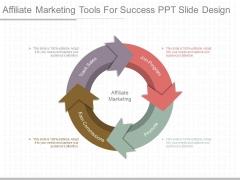 Affiliate Marketing Tools For Success Ppt Slide Design
