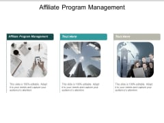 Affiliate Program Management Ppt PowerPoint Presentation Pictures Rules Cpb