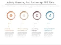 Affinity Marketing And Partnership Ppt Slide