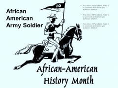 African American Army Soldier Ppt PowerPoint Presentation File Example