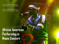 African American Performing In Music Concert Ppt PowerPoint Presentation Inspiration Structure PDF