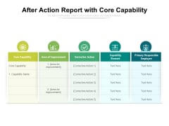 After Action Report With Core Capability Ppt PowerPoint Presentation Icon Skills PDF