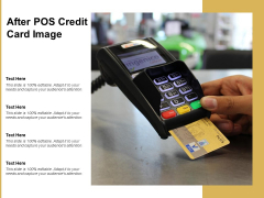 After POS Credit Card Image Ppt PowerPoint Presentation File Vector
