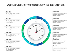 Agenda Clock For Workforce Activities Management Ppt PowerPoint Presentation Icon Background Images PDF