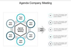Agenda Company Meeting Ppt PowerPoint Presentation Professional Smartart Cpb