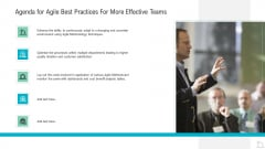 Agenda For Agile Best Practices For More Effective Teams Demonstration PDF