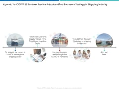 Agenda For COVID 19 Business Survive Adapt And Post Recovery Strategy In Shipping Industry Clipart PDF