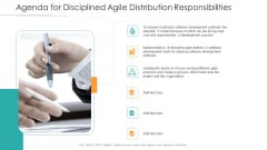 Agenda For Disciplined Agile Distribution Responsibilities Ppt Icon Display PDF