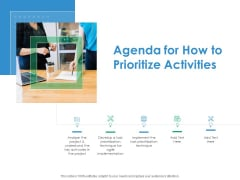 Agenda For How To Prioritize Activities Action Priority Matrix Ppt Layouts Pictures PDF