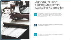 Agenda For Lead Scoring Model With Marketing Automation Ppt Layouts Objects PDF