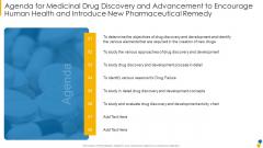 Agenda For Medicinal Rules PDF