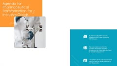 Agenda For Pharmaceutical Transformation For Inclusive Goods Elements PDF
