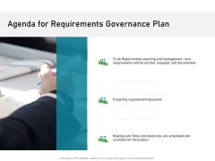 Agenda For Requirements Governance Plan Demonstration PDF
