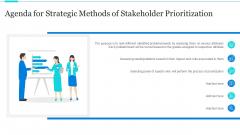 Agenda For Strategic Methods Of Stakeholder Prioritization Icons PDF
