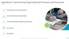 Agenda For Transforming Organizational Processes And Outcomes Sample PDF