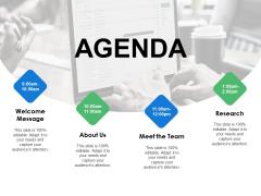 Agenda Meet The Team Ppt PowerPoint Presentation Slides Information