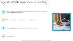 Agenda Of B2B Sales Process Consulting Ppt Outline Templates PDF