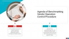 Agenda Of Benchmarking Vendor Operation Control Procedure Information PDF