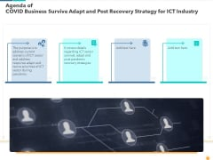 Agenda Of Covid Business Survive Adapt And Post Recovery Strategy For Ict Industry Ideas PDF