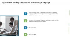 Agenda Of Creating A Successful Advertising Campaign Ppt Slides Good PDF