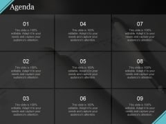 Agenda Ppt PowerPoint Presentation Infographic Template Brochure