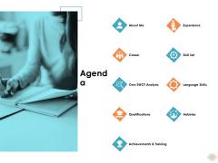 Agenda Ppt PowerPoint Presentation Show Information
