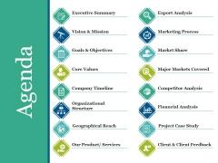 Agenda Ppt PowerPoint Presentation Show Smartart