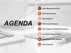 Agenda Risk Estimator Ppt PowerPoint Presentation Icon Templates