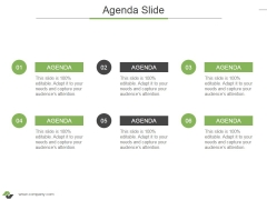 Agenda Slide Ppt PowerPoint Presentation Infographic Template Graphics