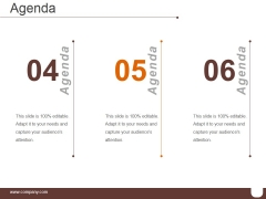 Agenda Template 2 Ppt PowerPoint Presentation Designs
