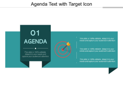 Agenda Text With Target Icon Ppt Powerpoint Presentation Infographics Graphics Example