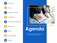 Agenda Training Experience Ppt Powerpoint Presentation Slides Topics