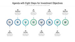 Agenda With Eight Steps For Investment Objectives Ppt Infographics Master Slide PDF