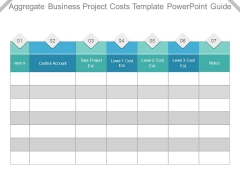 Aggregate Business Project Costs Template Powerpoint Guide