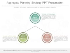 Aggregate Planning Strategy Ppt Presentation