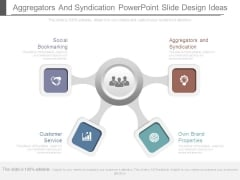Aggregators And Syndication Powerpoint Slide Design Ideas