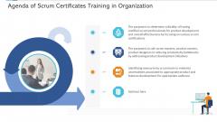 Agile Certificate Coaching Company Agenda Of Scrum Certificates Training In Organization Summary PDF